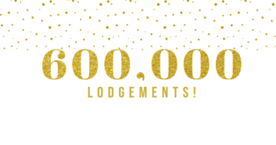 600,000 Lodgements