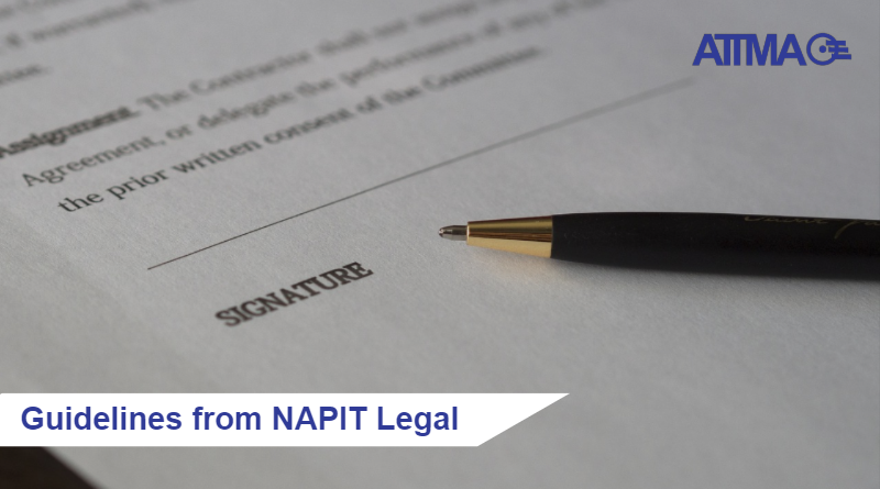 ATTMA Guidelines from NAPIT Legal