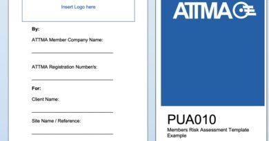 ATTMA Risk Assessment & Method Statement (RAMS) Update – (PUA010 Issue 2.1 – 14.05.2020)