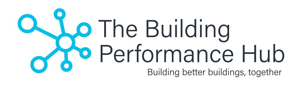 Building Performance Hub Logo White Black Text
